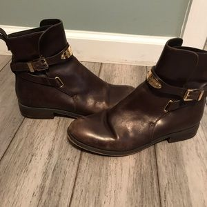 Michael Kors ankle Boots dark brown with gold